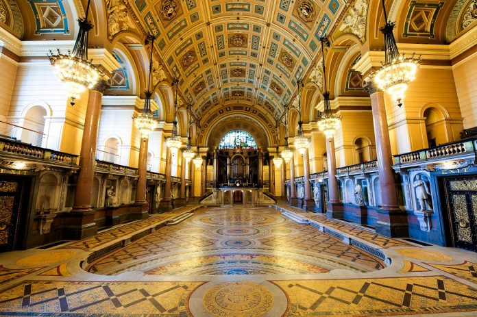 St George's Hall Tiled Floor