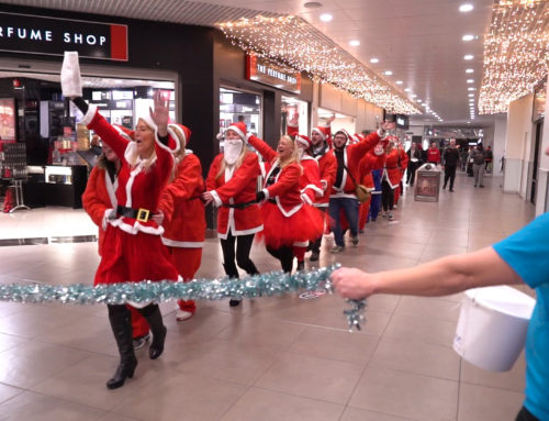 When you conga through a storm… Santa's brave the icy blasts to raise money for children's hospice